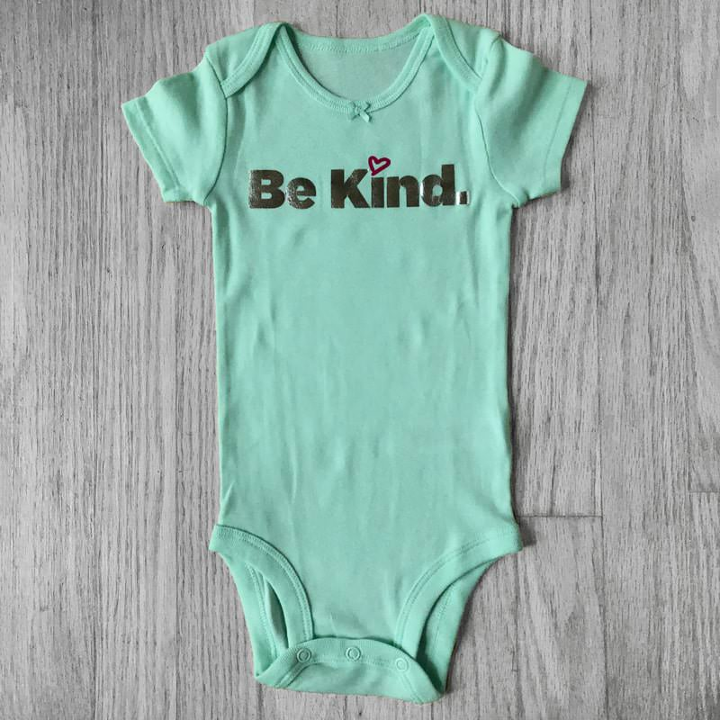 Be Kind Metallic Lettering Baby Bodysuit
