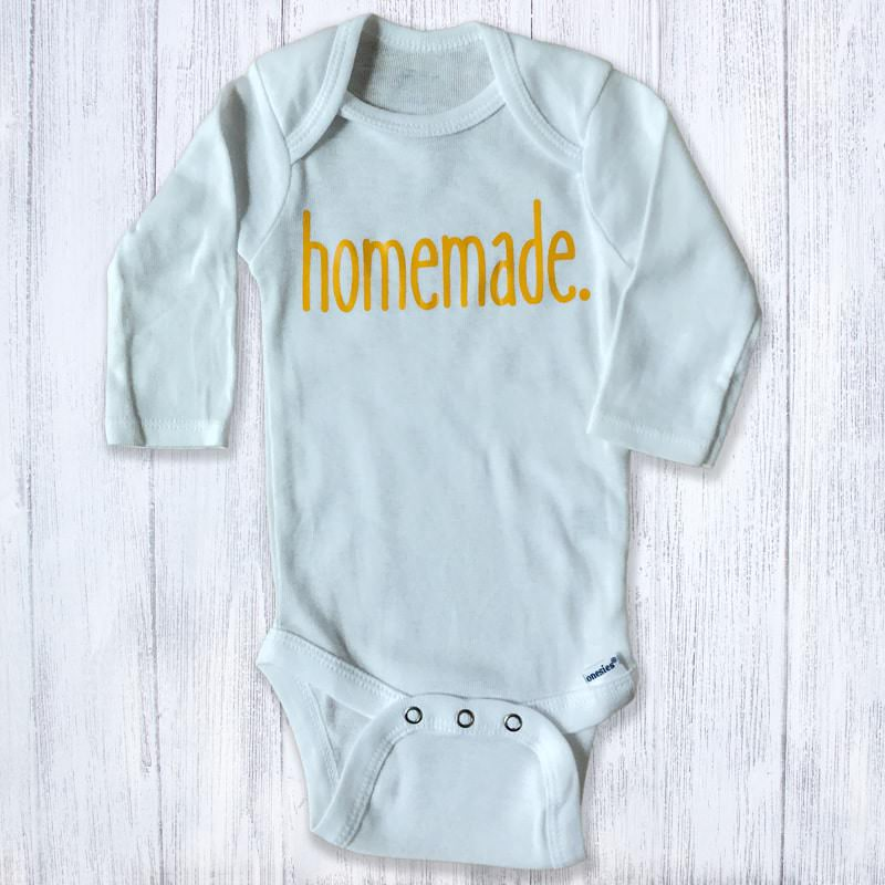 Homemade Long Sleeved Baby Bodysuit