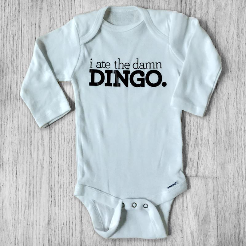 I ate the damn DINGO Long Sleeve Baby Bodysuit
