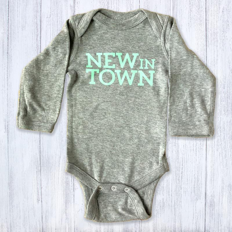 New in Town Long Sleeved Baby Bodysuit