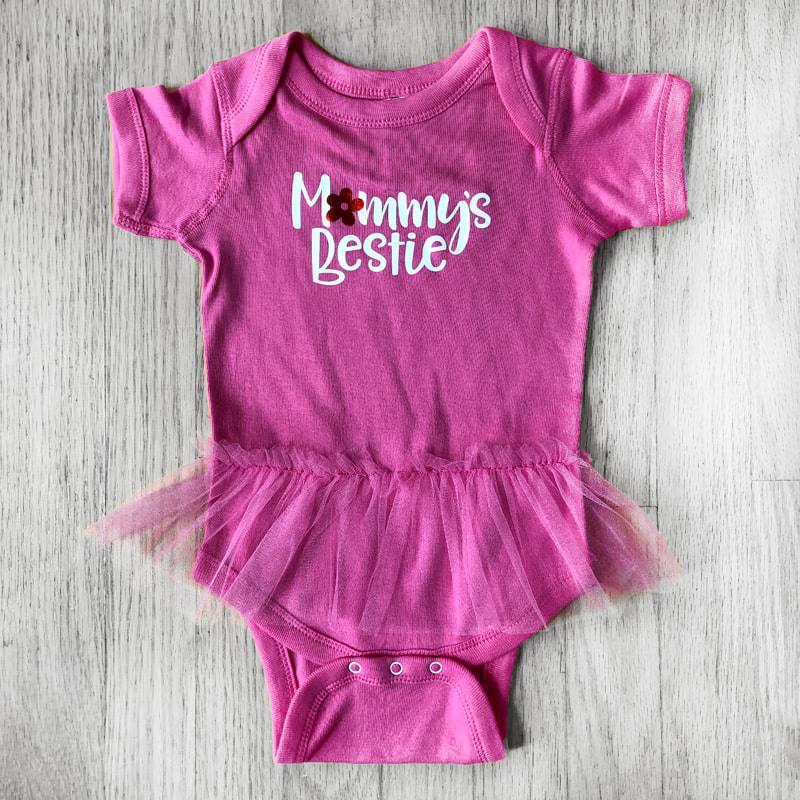 Mommie's Bestie Tutu Baby Bodysuit
