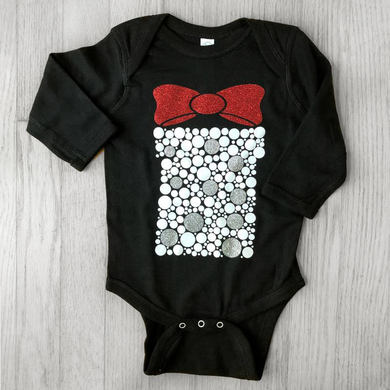 Large Glitter Bubbles Giftbox Baby Bodysuit
