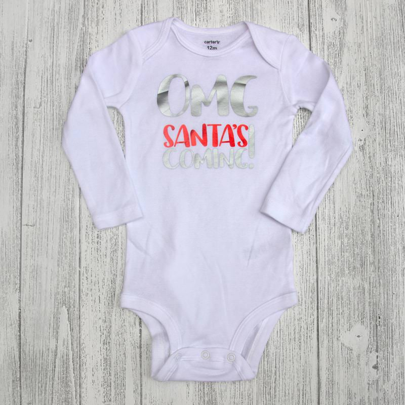 OMG Santa is Coming! Christmas Baby Bodysuit